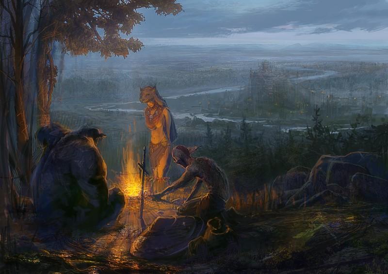 Повелители Орды (2-ой аддон) | Картина, Повелители Орды: У костра ...