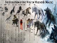 Эволюция волков в Might & Magic