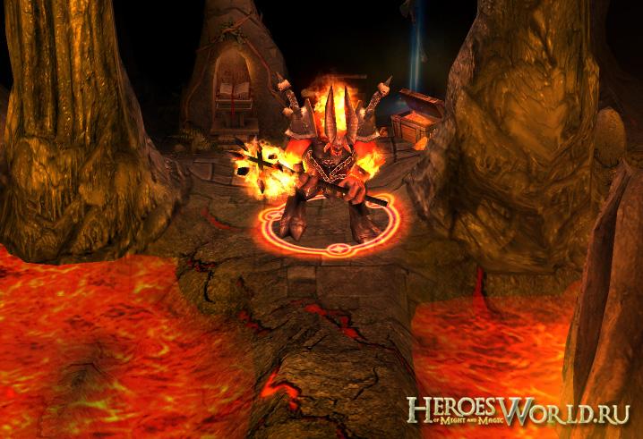 Архидъяволн защищает оплот преисподней.  Перейти в раздел посвященный Heroes 5