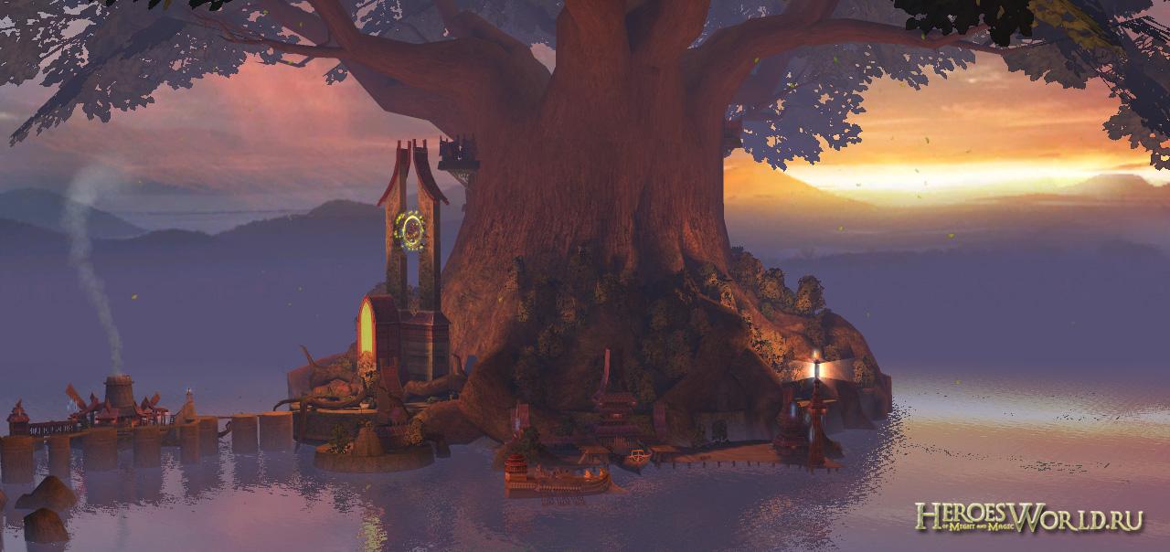 Вечернее дерево мудрости... Что может быть прелестнее...  Перейти в раздел посвященный Heroes 5