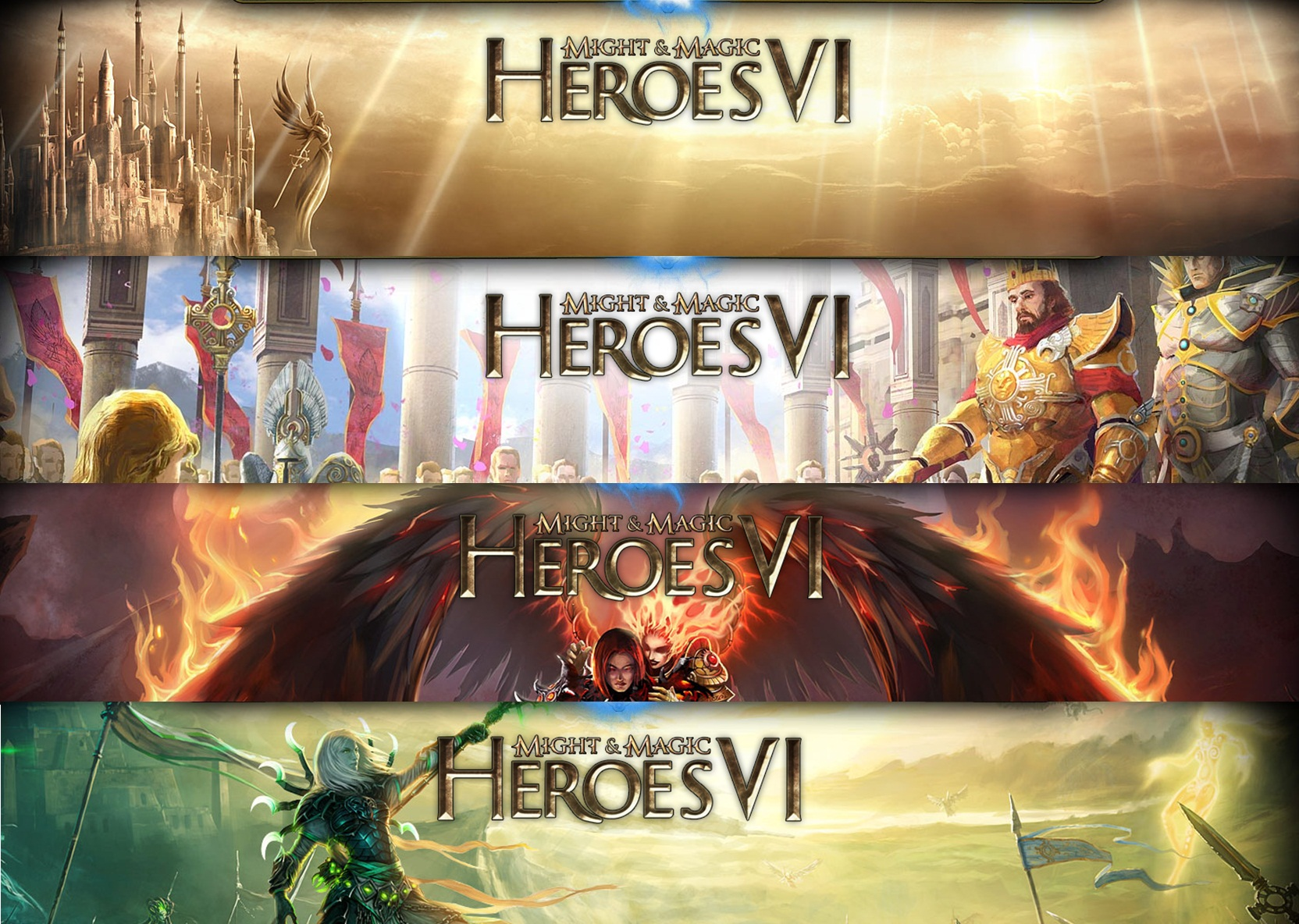 Изображение фрагментов официального сайта Heroes 6.